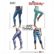 8561 Simplicity Pattern: Misses' Stretch Leggings